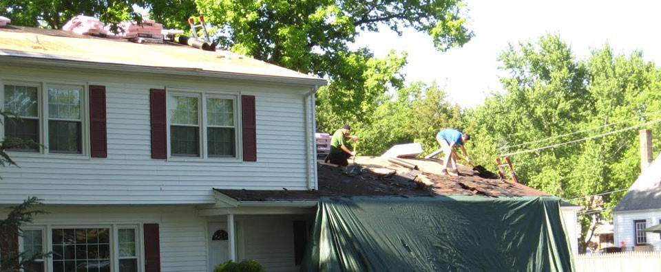 emergency roof repair project